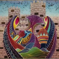 Najlaa Al Saadi, 2019, Omani Patterns, mixed techniques (40x 30 cm) Photo: Najlaa Al Saadi