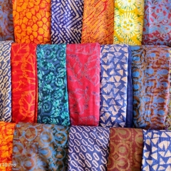 Batik-Stoffe (Foto: Edith de Vos)
