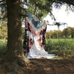 Glacier, Diane Lavoie, 2021, Angel Glacier at Rehberge, fabric installation, 490/290 cm