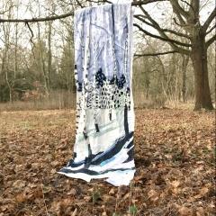 Snow, Diane Lavoie, 2021, Snow in Berlin, fabric installation, 300/90 cm