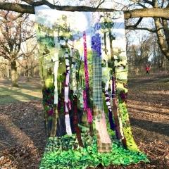 Summer, Diane Lavoie, 2021, Summer in Connecticut Winter in Berlin, fabric installation, 370/200cm