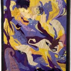 Komplementärfarben – gelb / violett alte Technik, 2004