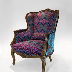 "ANTIQUE ITALIAN WING CHAIR (PAIR), ""URANUS"""