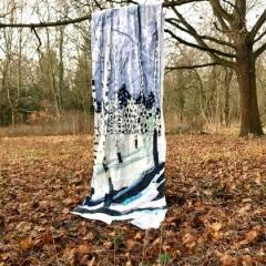 Diane Lavoie, 2021, Snow in Berlin, fabric installation, 300/90 cm (Foto: D. Lavoie)