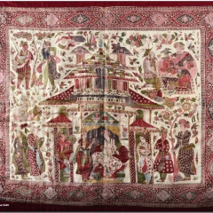 Coverlet (1640-1650) - by unknown - National Museum - New Delhi