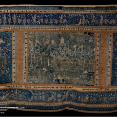 Embroidered temple hanging with scenes from Ramayana Nayaka Period - National Museum - New Delhi