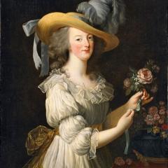 Élisabeth Vigée-Lebrun: Marie-Antoinette im Musselinkleid, 1783 (National Gallery of Art, Washington)