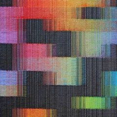 Eclats (Radiances). Olivier Masson, France. Gift ribbon. Handwoven in an electronic dobby loom with 24 shafts.