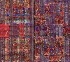 Hidden Layers of Time. Pat Moloney, UK. Cotton, rayon, recycled sari yarn from Nepal. Handwoven in a 16-shaft loom.