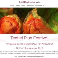 Website Textiel Plus Festival online