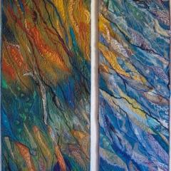 Duett, 2005, 119 x 42 bzw. 35 cm